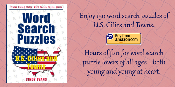 U.S. Cities and Towns Word Search Puzzles