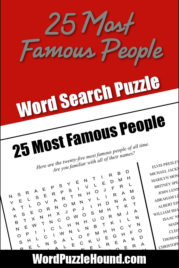 25 Most Awesome Mirror And Metallic Nail Art Ideas: 25 Most Famous People Word Search